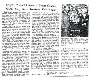RvH Boca Rio 1966 Golf World article